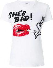 P.A.R.O.S.H. - She's Bad sequinned T-shirt - women - Cotton/PVC - S, M, L - WHITE
