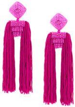 Sachin & Babi - Dupio earrings - women - Other fibres - OS - Rosa & viola
