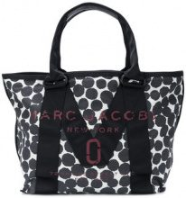 Marc Jacobs - Borsa tote con logo - women - Cotton/Leather/Nylon - One Size - BLUE