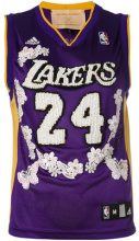 Night Market - Lakers embroidered NBA tank - women - Polyester - XXXS - PINK & PURPLE