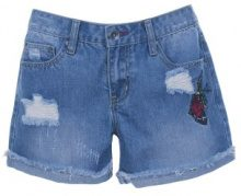 Pantaloncini jeans con ricami