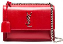 Saint Laurent - Borsa a spalla - women - Leather - One Size - Rosso
