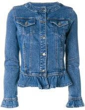 Twin-Set - Giacca denim - women - Cotton/Spandex/Elastane - XS - BLUE