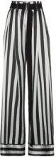 Ann Demeulemeester - Pantaloni a righe - women - Silk/Cotone/Rayon - 36, 40 - Verde