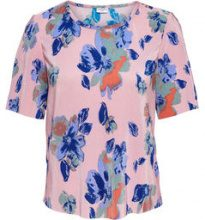ONLY Printed Short Sleeved Top Women Pink