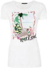 Max Mara - T-shirt con stampa grafica - women - Cotone/Spandex/Elastane - L - Bianco