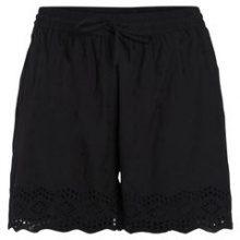PIECES High Waist Embroider Shorts Women Black