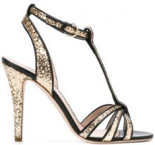 Red Valentino - Sandali con glitter - women - Leather/Plastic - 36, 38, 39, 40 - Nero
