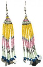 PIECES Colourful Pearl Earrings Women Silver