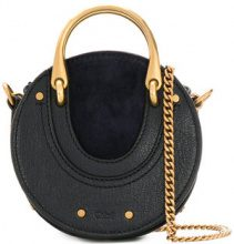 Chloé - Borsa micro 'Pixie' - women - Calf Leather/Goat Skin - One Size - BLUE