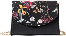 Borsa a tracolla con fiori (Nero) - bpc bonprix collection
