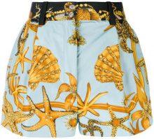 Versace - Shorts 'Tresor de La Mer' - women - Silk/Acetate - 40, 42, 38 - BLUE