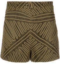 Martha Medeiros - lace shorts - women - Cotone/Polyester - 38, 42 - Marrone
