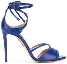 Aquazzura - Sandali 'Nathalie 105' - women - Leather - 36.5, 37.5, 38 - Blu