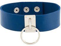 Manokhi - circle stud collar - women - Leather/metal - OS - BLUE