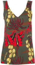 P.A.R.O.S.H. - floral print tank - women - Silk/Spandex/Elastane - S, L - GREEN