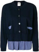 Semicouture - Cardigan con tasche a quadretti - women - Cotton - S, M, L, XL - BLUE