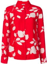 P.A.R.O.S.H. - Blusa con foglie stampate - women - Silk - XS, S - RED