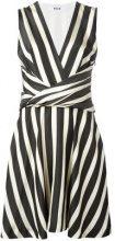 MSGM - striped flared dress - women - Cotone/Viscose/Polyester - 42 - Nero