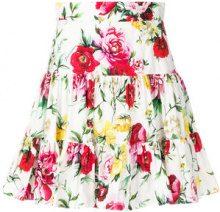 Dolce & Gabbana - Mini gonna con stampa - women - Cotton/Ramie/Polyamide - 40, 42, 44, 38 - WHITE
