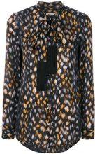 Equipment - Camicia a fantasia - women - Silk - S - BLACK