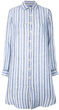 Woolrich - Camicia oversized a righe - women - Linen/Flax - M, L, XS, S - BLUE