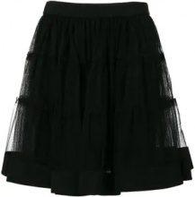 - Moschino - Minigonna in tulle - women - seta/fibra sintetica - 40, 42 - di colore nero