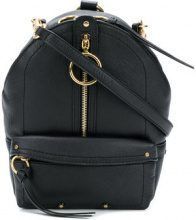 See By Chloé - Minizaino con zip - women - Cotone/Calf Leather - One Size - Nero