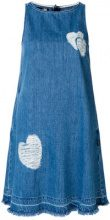 Love Moschino - frayed heart dress - women - Cotton - 38, 40, 42 - BLUE