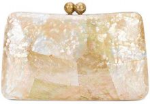 Serpui - Charlotte clutch bag - women - Shell/Polyester - OS - NUDE & NEUTRALS