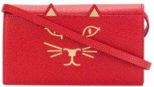 Charlotte Olympia - Borsa clutch Feline - women - Calf Leather - OS - RED