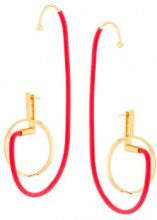 Paula Mendoza - Orecchini 'Shiva' - women - Gold Plated Brass/rubber - OS - RED