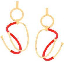 Paula Mendoza - Orecchini 'Gu' - women - Gold Plated Brass/rubber - OS - RED