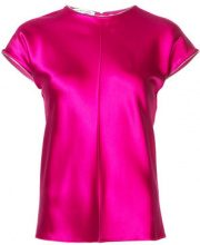 - Helmut Lang - cap - sleeved T - shirt - women - Silk - M - Rosa & viola