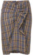 Isabel Marant Étoile - tartan ruffled skirt - women - Cotton/Linen/Flax - 34, 36, 38, 40, 42 - MULTICOLOUR