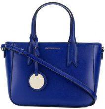 Emporio Armani - logo tote bag - women - Polyurethane/Polyester - OS - BLUE