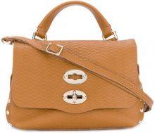 Zanellato - Mini borsa a cartella con tracolla - women - Leather - One Size - BROWN