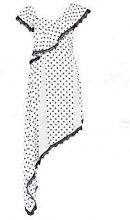 Tia Mixed Polka Dot Asymmetric Ruffle Dress