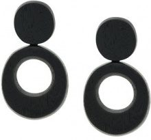 Monies - oversized clip-on earrings - women - Acrylic - OS - BLACK