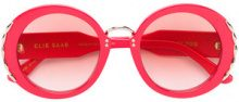 Elie Saab - Occhiali da sole tondi - women - Acetate/metal - 51 - RED