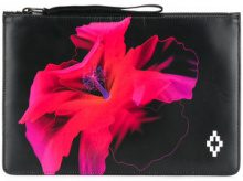 Marcelo Burlon County Of Milan - Clutch 'Flower' - women - Leather - OS - BLACK