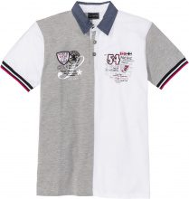 Polo color block regular fit (Bianco) - bpc selection