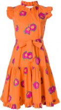 La Doublej - floral print ruffle dress - women - Cotton - S, M, L, XL - YELLOW & ORANGE