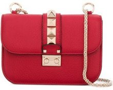 Valentino - Borsa a spalla 'Glam Lock' - women - Calf Leather/metal - OS - RED