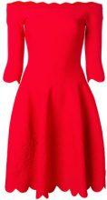 Alexander McQueen - Vestito con spalle scoperte - women - Polyamide/Polyester/Spandex/Elastane/Viscose - S - RED