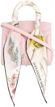 Alexander McQueen - scarf trim tote - women - Leather - One Size - PINK & PURPLE