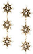 Gucci - Orecchini pendenti con perle sintetiche - women - Brass - OS - METALLIC