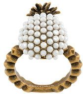 Gucci - Anello 'Pineapple' - women - Brass/Resin - 56 - METALLIC