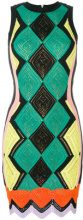 Versace - Abito all'uncinetto - women - Silk/Polyamide/Spandex/Elastane/Viscose - 40, 42, 46, 38 - GREEN