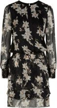 Y.A.S Floral Chiffon Mini Dress Women Black